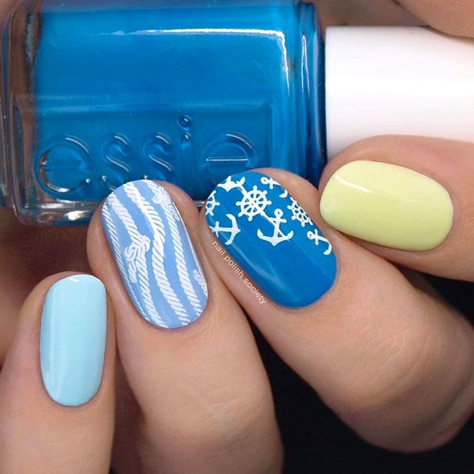 Pastel Colors Nail Art