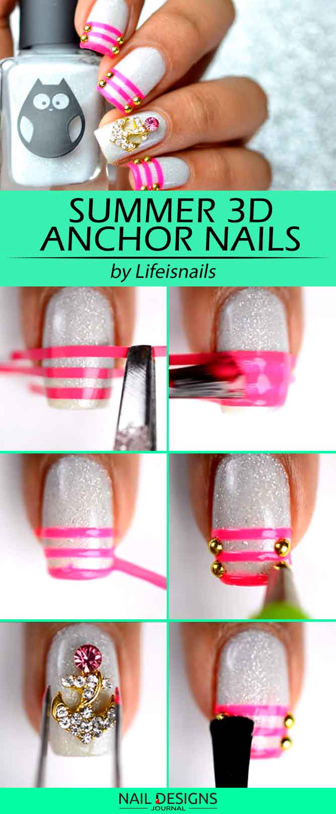 3D Anchor Nails Design