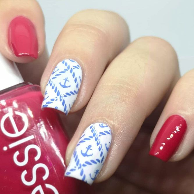 Stamping Anchor Nail Design