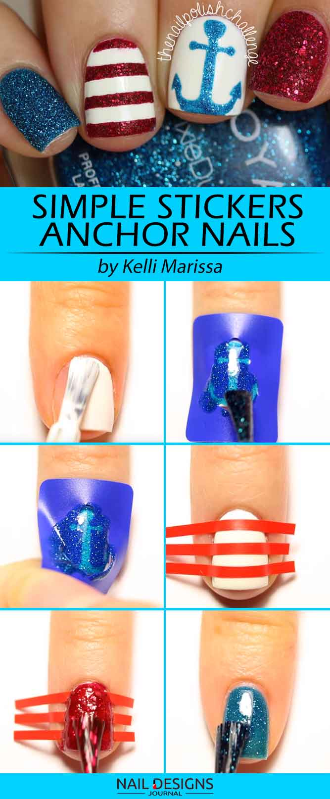 Sweet And Simple Stickers Anchor Nails Tutorial