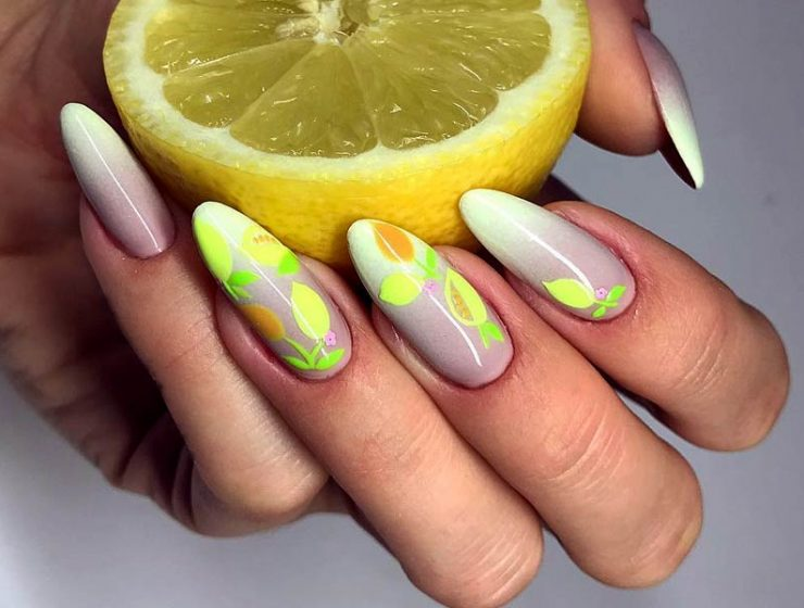 Trendy Citrus Fruits Nails Art Tutorials