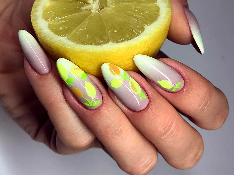 Trendy Citrus Fruits Nails Art Tutorials