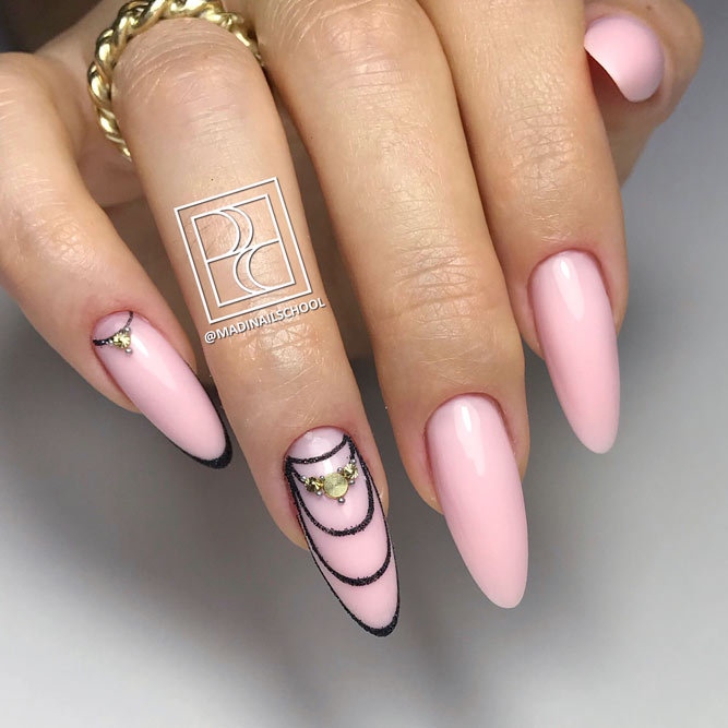 Gorgeous Nude Almond Nail Shape For Extra Chic Girls #longnails #almondnails #nudenails