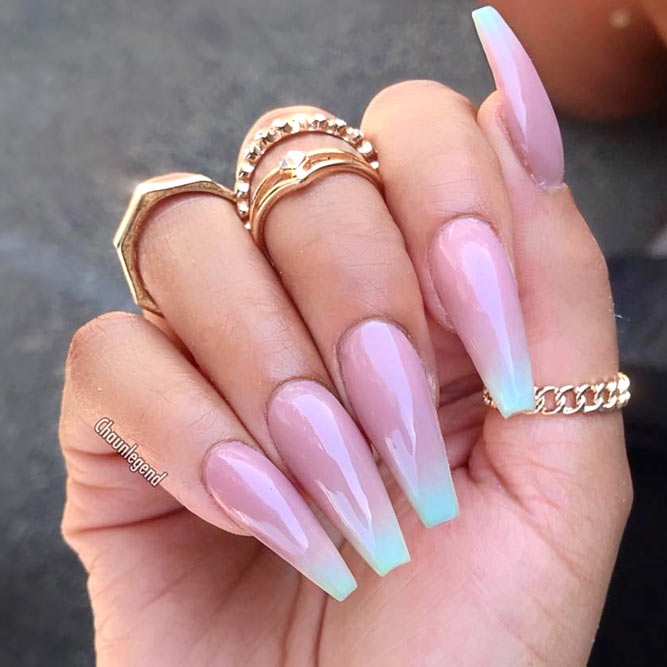 About Acrylic Nails #coffinnails #longnails #ombrenails