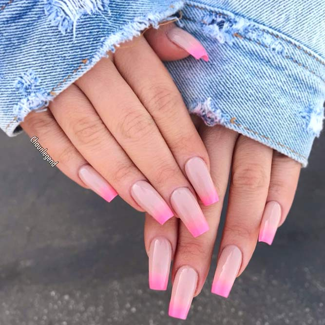 What Is Better Gel Or Acrylic Nails #coffinnails #longnails #ombrenails