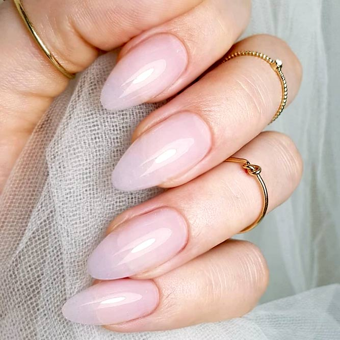 About Gel Nails #ovalnails #nudenails