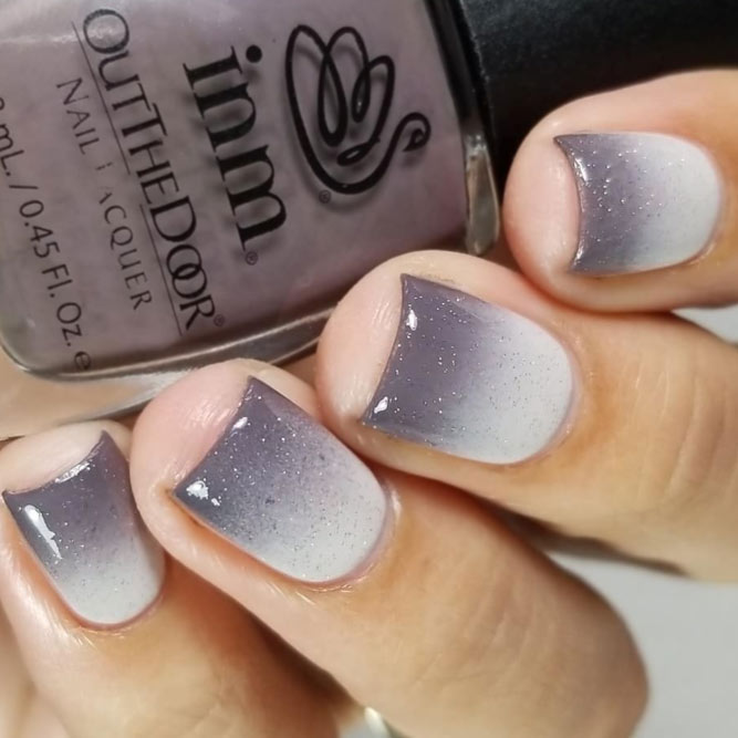 Taupe Fade For An Elegant Manicure #ombrenails #shortnails
