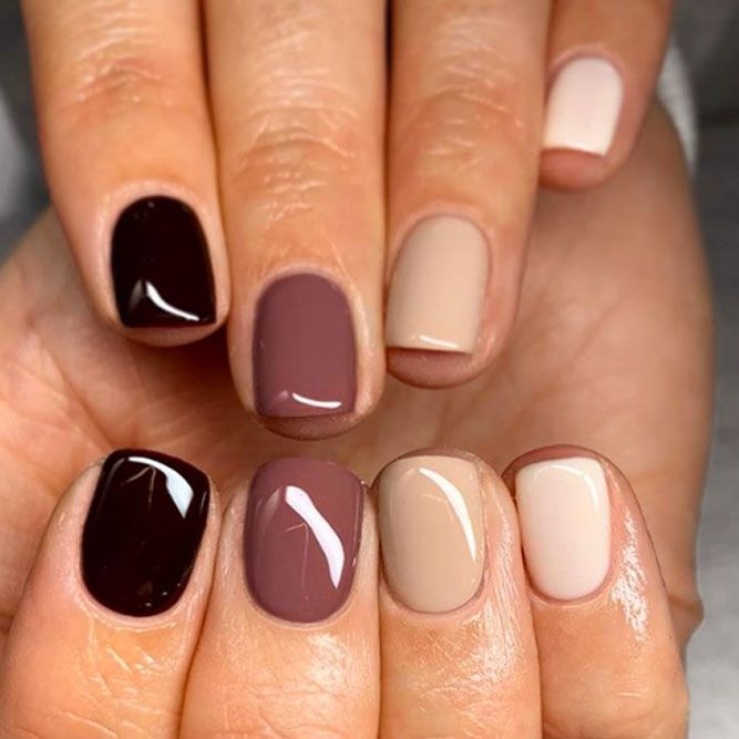Several Shades Of Nail Polish In One Manicure