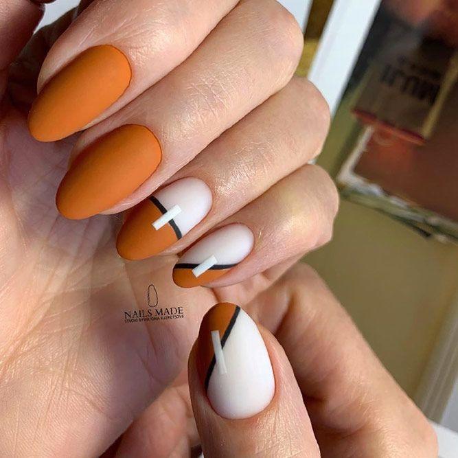 Popular Mustard Color Nails