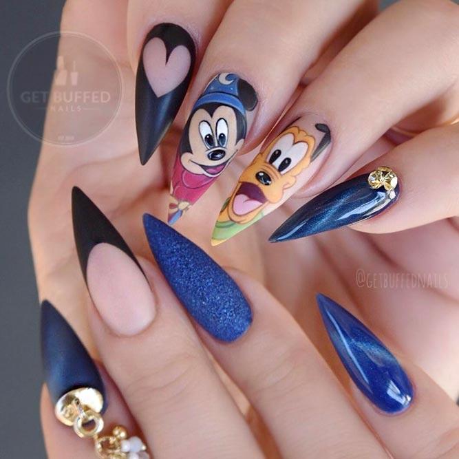 Fantasy Disney Nails #mousenails#mickeynails
