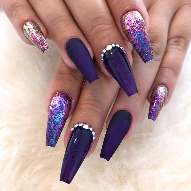 Glitter Ombre And Rhinestone