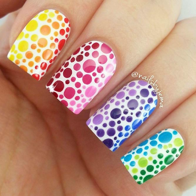 Dotted Rainbow Design
