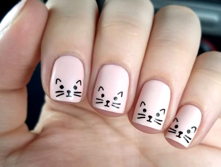 Unique Cat Nails Designs For You - Explore The Best Nail Art Designs In 2017 NailDesignsJournal.com