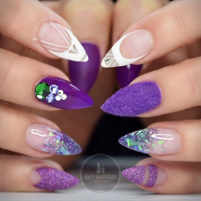 Flawless Bright Nails With Flocking Powder