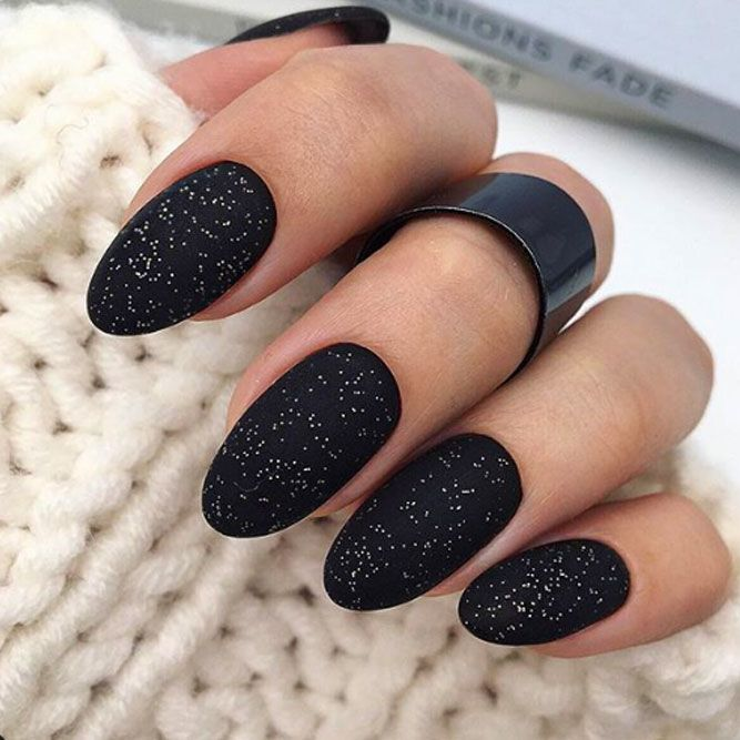 Black Matte Nails For Holiday