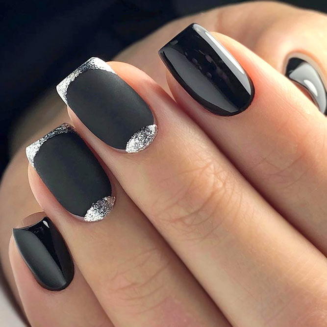Elegant Dark Shaded Holiday Nails