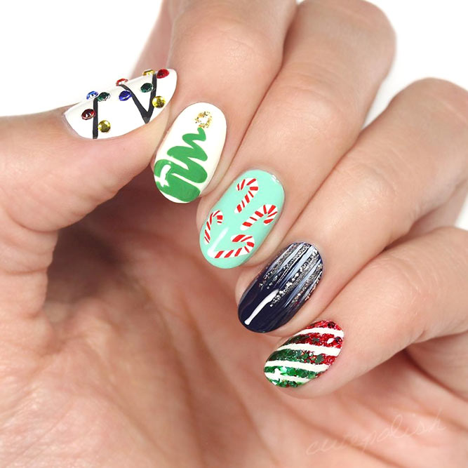 Christmas Holiday Nails Art Ideas
