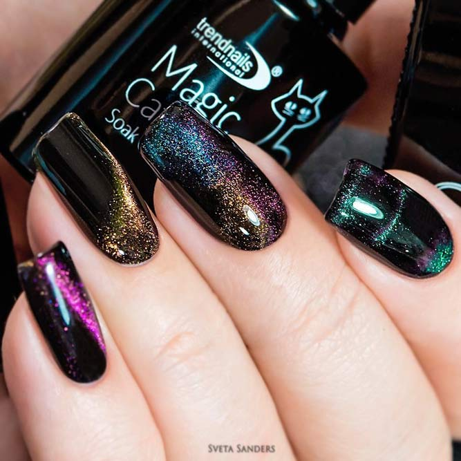 Magical Galaxy Holiday Nail Art
