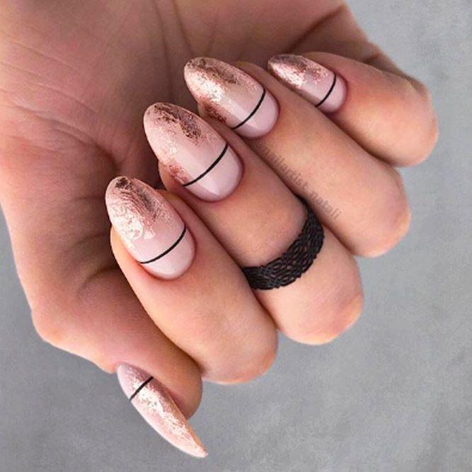 Nude Ombre Nail Art Idea
