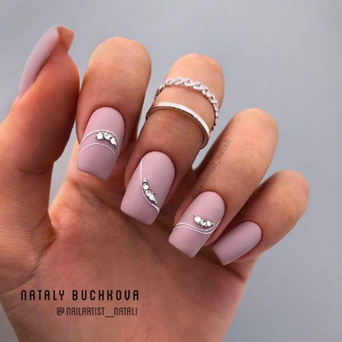 Beauty Matte Nails For Holiday