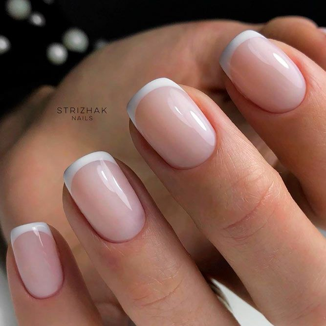Classic French Nails #frenchnaisl #elegantnails