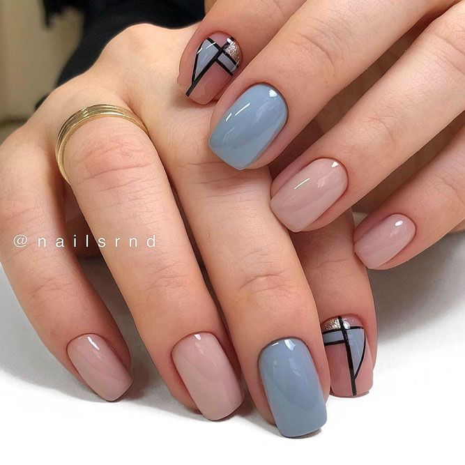 Stylish Geometric Designs For Short Nails