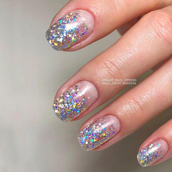Fantastic Glitter Ombre Nails