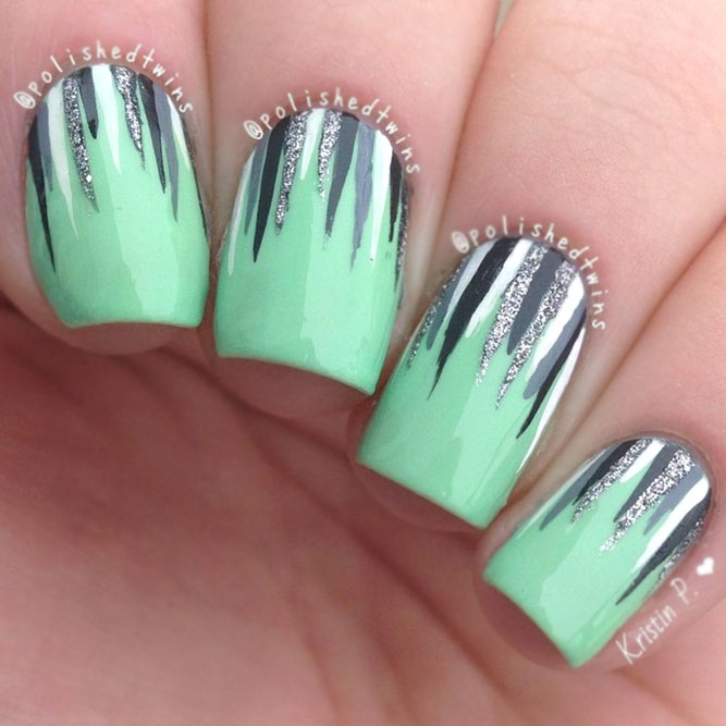 Waterfall Nails For Mint Shade