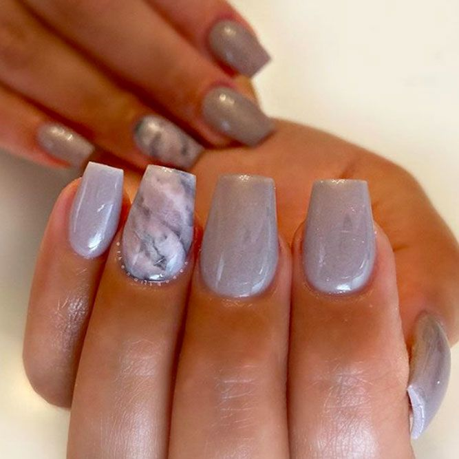 Neutral Ombre With Marble Accent