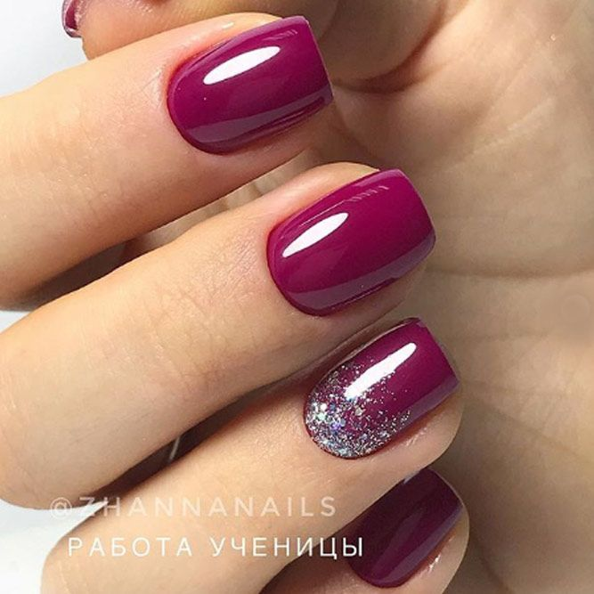 Ombre Accent On Nails