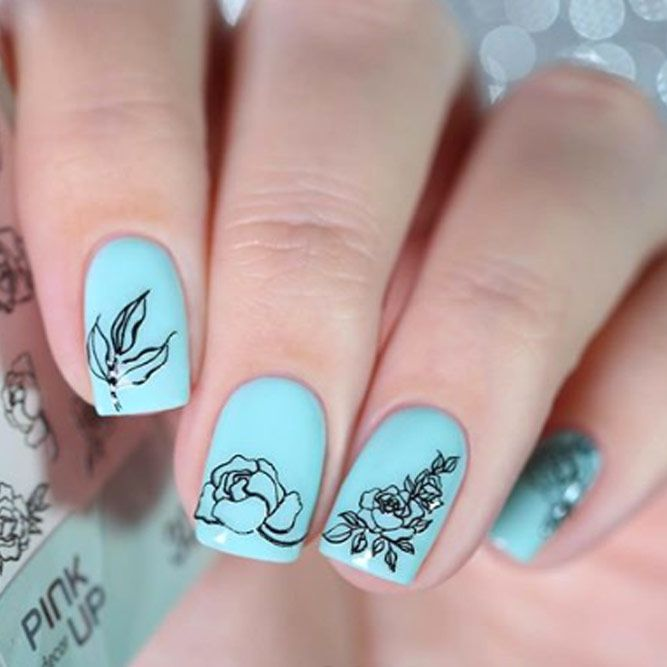 Stamping Art With Beautiful Flowers