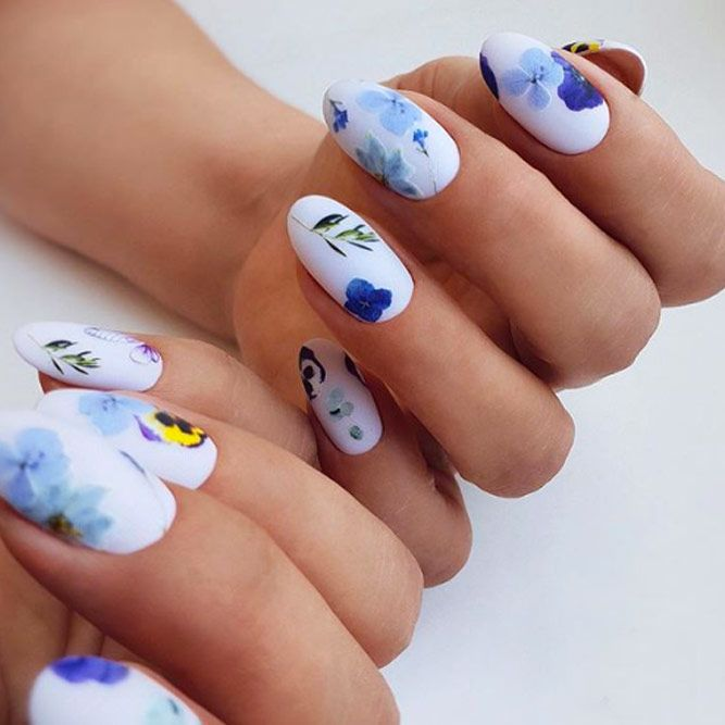 Floral Nail Designs With Stickers