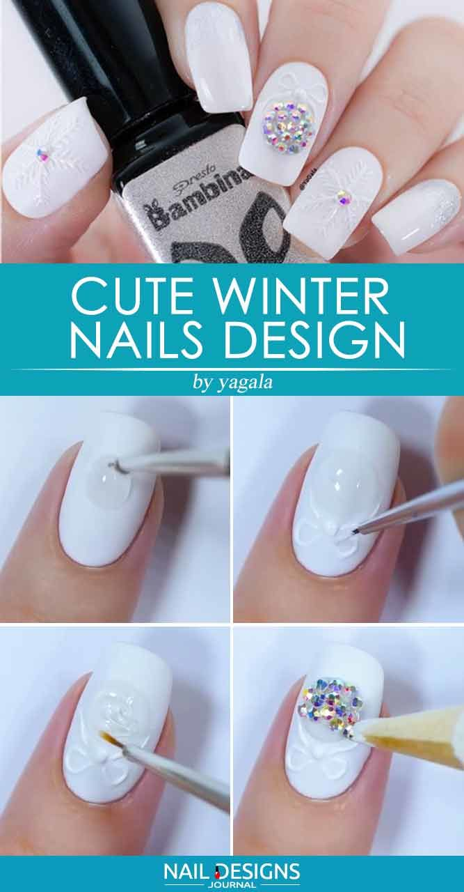 Cute Winter Nails Design