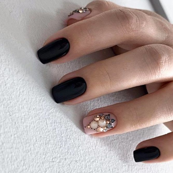 Gorgeous Holiday Nails with Stones