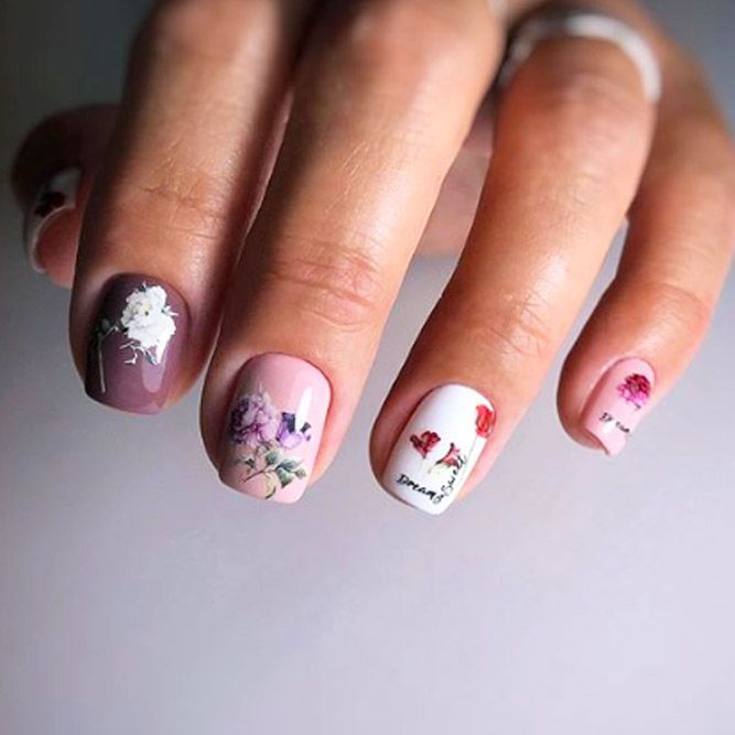 Elegant Flowers Nail Art For Any Occasion