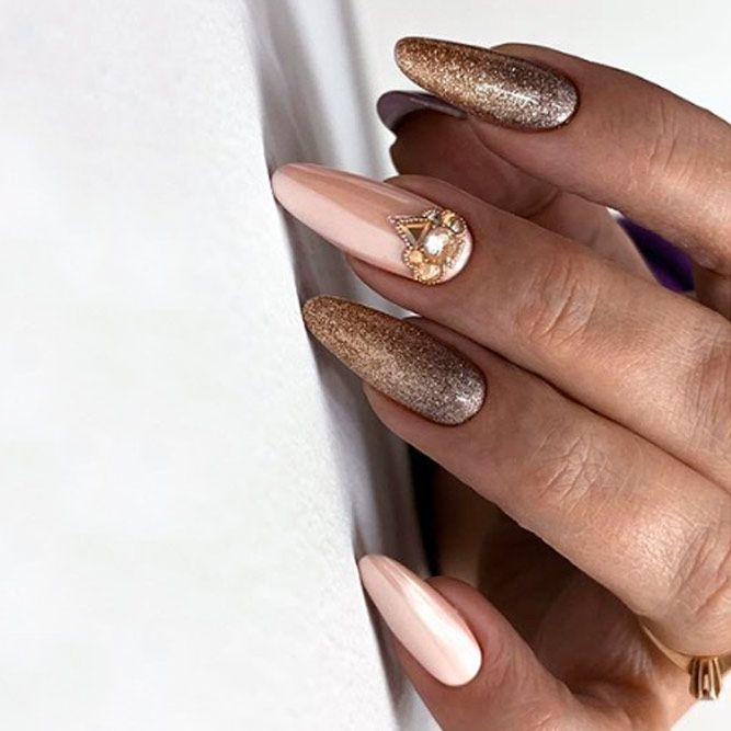 Holiday Nails with Stones