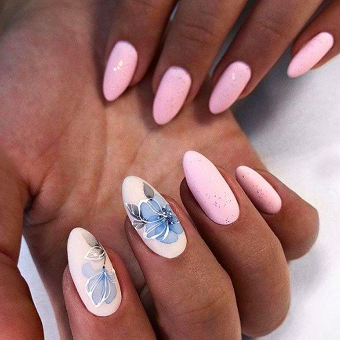 Elegant Flower Nails