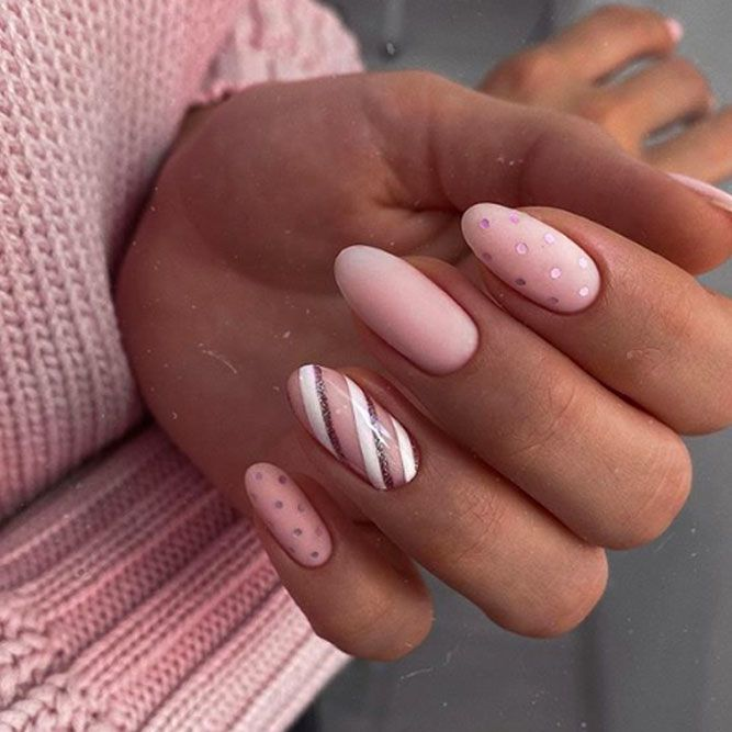 Pink Cute Holiday Nail