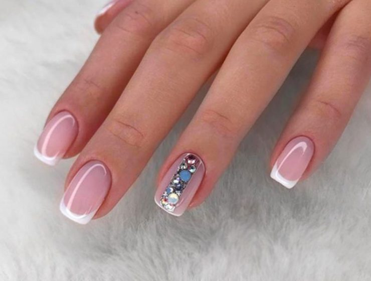 Gleaming Rhinestones Nail Perfection For Incredible Mani