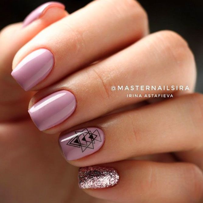 Simple And Pink Glitter Accent