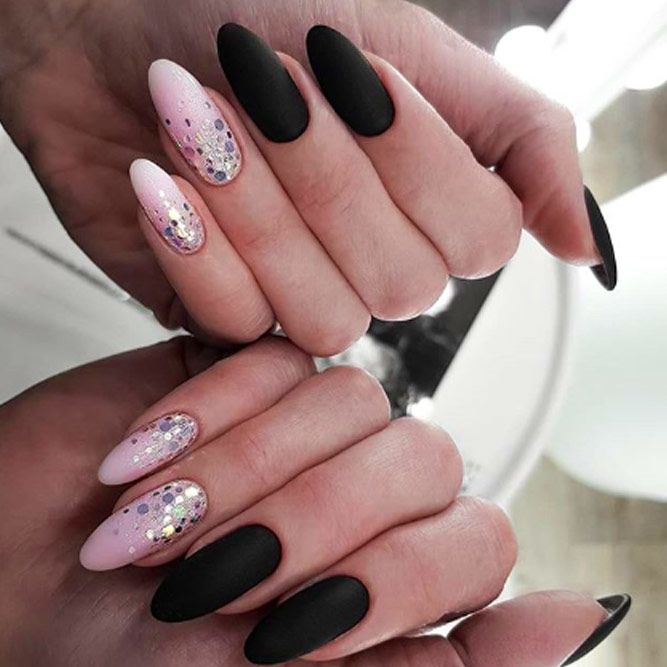 Beautiful Dark Matte Nail Designs