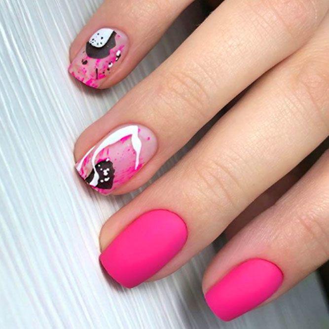 Pink Matte Nail Designs