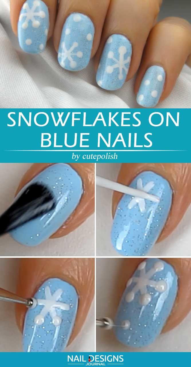 Easy Blue Nail Design