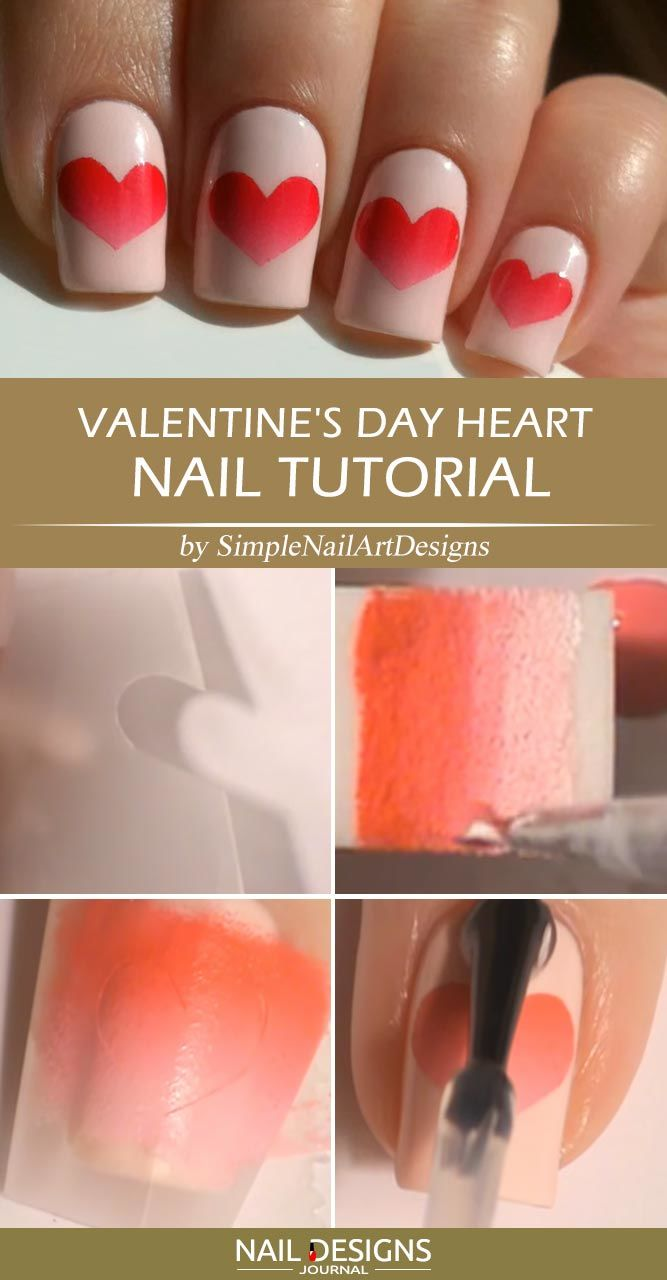 Simple Valentine's Day Heart Nail Tutorial