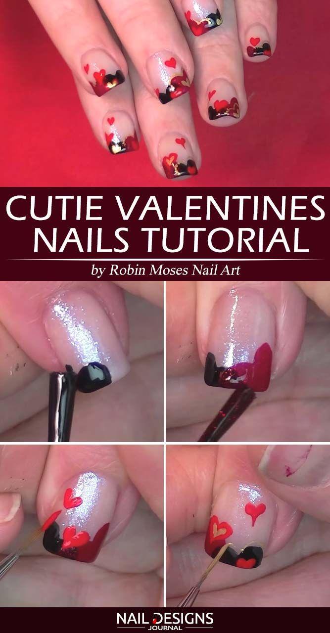 Cutie Valentines Nails Tutorial
