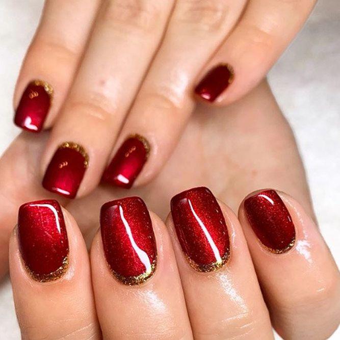 Winter Nail Colors – Classy Dark Red