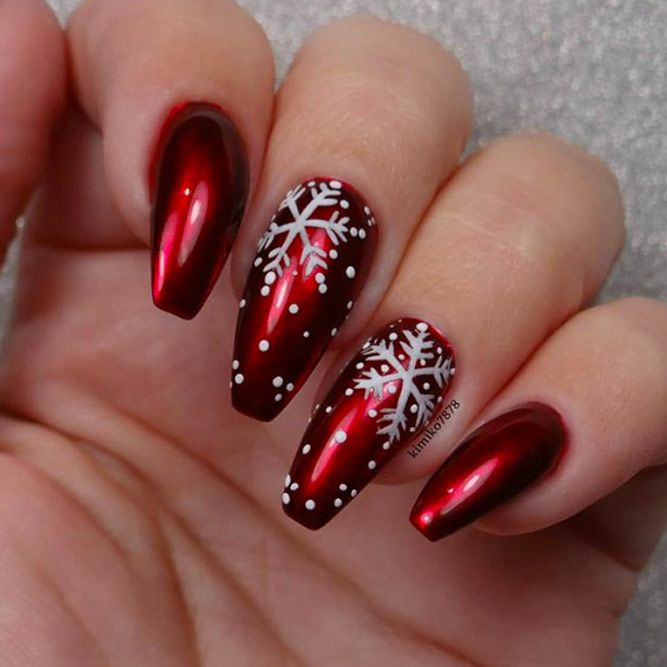 Dark Red Like Winter Nail Colors