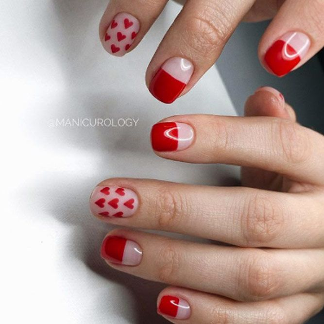 Lovely Hearts Nail Design