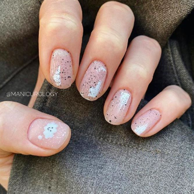 Abstract Nails Art With Cute Details