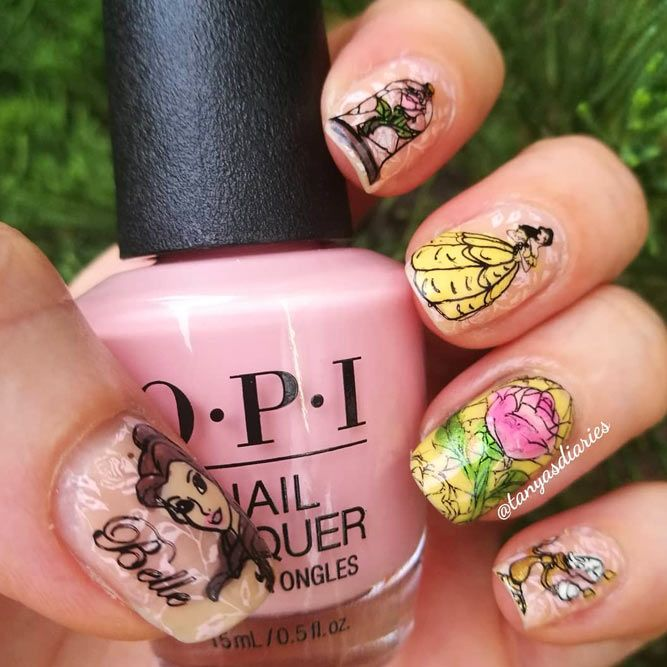 Inspiring Beauty and the Beast Nails